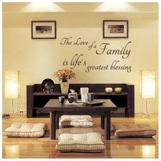 vinilos textos Love of Family