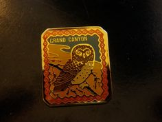 Owl Grand Canyon Souvenier  Enameled Pin with a by opalsandowls, $10.00