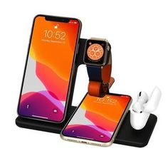 Wireless Charger – Techonlow.com Airpods Pro, Docking Station, Iphone 11, Apple Watch, Charger