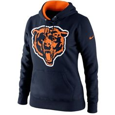 Nike Chicago Bears Ladies Retro Tailgater Hoodie - Navy Blue