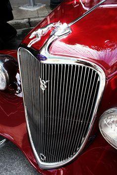 antique Jaguar car in Montreal, Canada