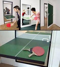 #gadgets #diseño #fotos #originales #humor #chistes #divertidas #pingpong  UNA ORIGINAL PUERTA QUE SE CONVIERTE EN MESA DE PING PONG... http://www.yougamebay.com