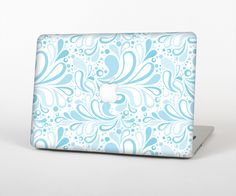 """The Light Blue Droplet Sprout Pattern Skin Set for the Apple MacBook Pro 15"""" with Retina Display from Design Skinz"""