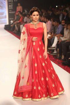 Bridal Red Long Anarkali Heavy Emroidaried Salwar Suit