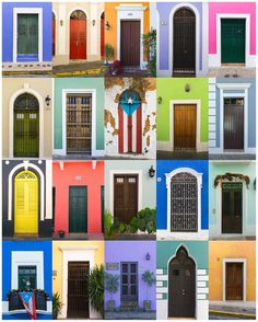 Puerto Rico Canvas, Doors of Old San Juan, Puerto Rico Wall Art, Colorful Doors - Travel Photography Puerto Rican Culture, San Juan Puerto Rico, Rico Design, Ways To Travel, Travel Tips, Travel Hacks, Travel Advice, Travel Photos, Puerto Ricans