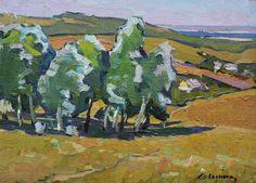 VINTAGE IMPRESSIONIST PICTURE Original Oil Painting by V.Kolesnik 1965, Summer Rural Meadows Landscape Soviet Ukrainian art Woodland Scenery by ArtNostalgie on Etsy https://www.etsy.com/listing/493075679/vintage-impressionist-picture-original
