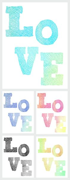 "We Lived Happily Ever After: A Confession + ""Love"" and ""Sparkle"" Watercolor Free Printables"