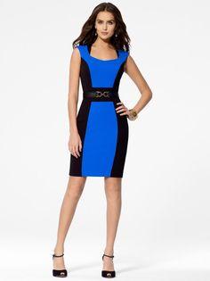 Blue Colorblock Dress - Dresses - New Arrivals