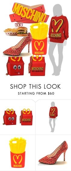 """""""Moschino McDonald's Outfit"""" by egordon2 ❤ liked on Polyvore featuring Moschino, Mcdonalds and fastfood"""
