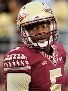 0bb80fbd004f1 Florida State Seminoles quarterback Jameis Winston (5) warms up before the  game against the