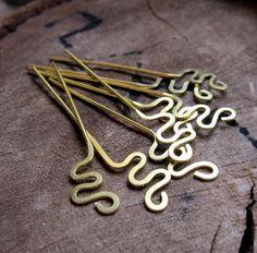 22 gauge Handmade Brass HeadPins by Jewelry-Findings-Supplies