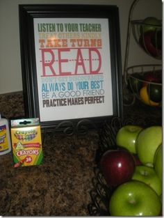 Cute idea for a YW Back to School breakfast and survival kit.