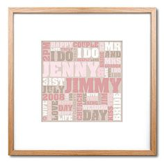 Personalised Wedding Day Print from notonthehighstreet.com