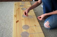 awesomely inspiring ikea diy - the wood grain showing through is neat!