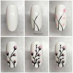 25 nail designs step by step! - - - 25 nail designs step by step . - 25 nail designs step by step! – – – 25 nail designs step by step! Cute Nail Art, Nail Art Diy, Easy Nail Art, Cute Nails, How To Nail Art, New Nail Art, Beautiful Nail Art, Pretty Nails, Spring Nail Art