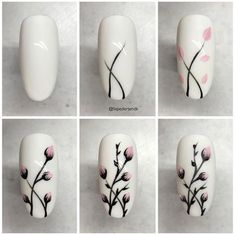 25 nail designs step by step! - - - 25 nail designs step by step . - 25 nail designs step by step! – – – 25 nail designs step by step! Cute Nail Art, Nail Art Diy, Cute Nails, How To Nail Art, Beautiful Nail Art, Nail Art Designs Videos, Nail Art Videos, Nail Art Tutorials, Best Nail Art Designs