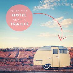 I might be convinced to camp in this. Vintage Trailer Rentals from Goodness Travels