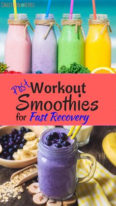 Post workout smoothies are a great way to recover, fast.
