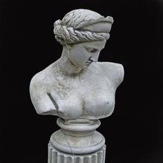 An+English+composition+stone+bust+of+Venus