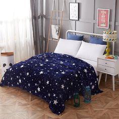 Bright stars bedspread blanket High Density Super Soft Flannel Blanket to on for the sofa/Bed/Car Portable Plaids Bedroom Carpet, Living Room Carpet, Bedroom Bed, Bedroom Decor, Winter Blankets, Soft Blankets, Flannel Blanket, Snuggle Blanket, Purple Pattern