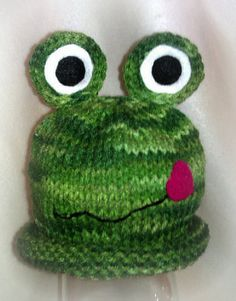 Toddler Frog Hat, Knitted  Hat,  Toddler Knitted Hat, Frogs, Animal Hat,  Boys Hats. $18.95, via Etsy.