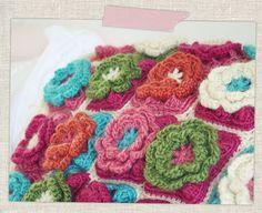 Flower Granny Square Pillow - Sun