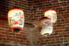 lovely patterned paper Chinese lanterns