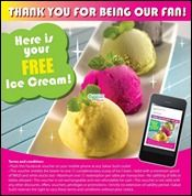 nice 1-30 September 2012: Sakae Sushi FREE Ice Cream Promotion