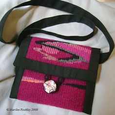 Yarnplayer's Tatting Blog: My handwoven tapestry bags - 3 finished!