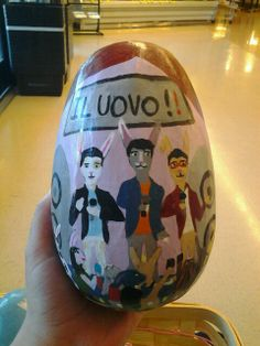 """The """"il uovo"""" egg. Lol easter bunny spoof on il volo. Can u guess which one is gianluca? U can easily spot the piero bunny. ;-)"""
