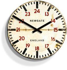 Tube Station Wood Clock | #Vintage Inspired Timekeeping