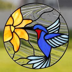 Stained glass hummingbird suncatcher, stain glass humming bird ornament on Etsy . - Glasses - Stained glass hummingbird suncatcher, stain glass humming bird ornament on Etsy … – - Stained Glass Suncatchers, Stained Glass Flowers, Faux Stained Glass, Stained Glass Lamps, Stained Glass Designs, Stained Glass Panels, Stained Glass Projects, Stained Glass Patterns, Fused Glass
