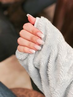 Coffin shaped nails French ombre