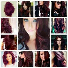 Red purple brown hair- I'm not sure I can pull it off, but I'm a little tempted to try it!?!?