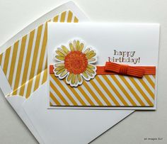 Stampin' Up! So Very Happy birthday card with matching envelope