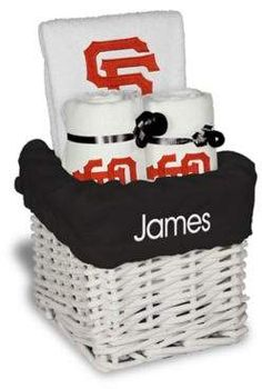 factory price fef9d 1847f Designs by Chad and Jake MLB Personalized San Francisco Giants 4-Piece Baby  Gift Basket