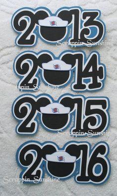 DISNEY CRUISE YEAR - Die Cut Title Scrapbook Paper Piece SSFFDeb #Handmade