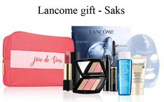 A new Lancome gift at Saks. Plus, there are still Lancome GWP offers at Bloomingdale's, direct from Lancome, Nordstrom and more. Lancome Gift Set, Lancome Gift With Purchase, Nordstrom, Cosmetics, Gifts, Joy, Baby Newborn, Presents, Favors