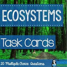 Ecosystems and Food Chains Task CardsThis Ecosystems and Food Chains Task Cards set includes: 20 multiple choice cards about ecosystems and food chains Recording Sheet Answer Key Ideas for Use**Do you want to save on this and more science task cards?**Get the Science Task Cards Bundle!............................................................................................................................Product Notes:1.