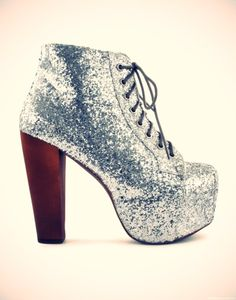 Glitter Boot Heels @Olivia García García Stroika has a pair like this except its multicolored :)