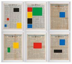 MARINE HUGONNIER'S NEWSPAPER COLORBLOCK