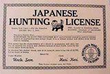 "Japanese Hunting License; Game Warden: Uncle Sam"""