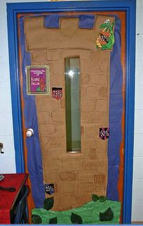 Fairy Tale Themed Classrooms from Clutter-Free Classroom. This would be great door decor for a knights or princess theme.