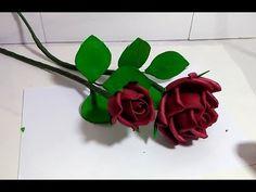 Rosa vermelha S/Frisadores - YouTube Felt Flower Tutorial, E-mail Marketing, Felt Flowers, Flower Crafts, Flower Making, Plant Leaves, Embroidery, Create, Plants