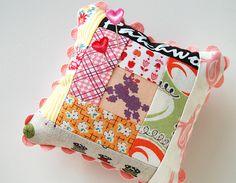 logcabin pincushion by ayumills, via Flickr