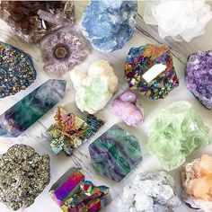 A collection of crystals, stones, and jewelry that provide healing and protection. Detailed descriptions of crystal meanings, uses, and properties. Minerals And Gemstones, Rocks And Minerals, Natural Gemstones, Chakra Crystals, Stones And Crystals, Gem Stones, Healing Crystals, Crystal Aesthetic, Crystal Decor