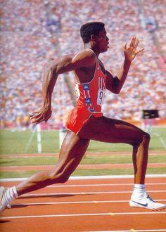 Carl Lewis - 1984 Summer Olympics - Los Angeles, CA Carl Lewis, 1984 Summer Olympics, Usa Olympics, American Athletes, Long Jump, Sport Icon, World Of Sports, Sports Stars, Sports Photos