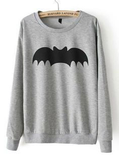 Bat Sweatshirt- This but with little pink hearts on the bat so no one is confused about if it's batman or not