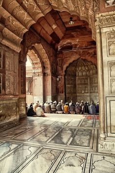 Noon Prayer at Jama Masjid (Old Delhi, India) • Islamic Art and Quotes