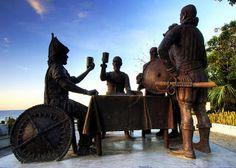 Sandugo Monument (Blood Compact) in Tagbilaran City, Bohol. Napoleon Abueva